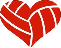 Сердце волейбола иллюстрация штока
