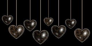 Сердце влияния золота Стоковое Изображение