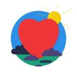 Сердце в круге Стоковое Изображение