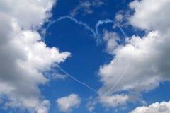 Сердце в небе, день ` s валентинки Стоковые Фотографии RF