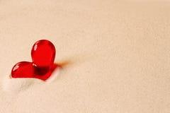 Сердце в песке Стоковые Фото