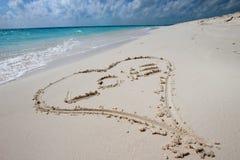 Сердце в песке Стоковое Изображение RF