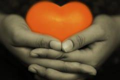 Сердце в руке 5 Стоковая Фотография RF