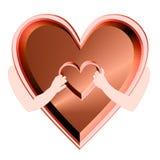 Сердце в сердце Стоковая Фотография RF