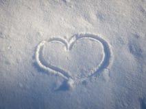 сердце в снежке Стоковая Фотография RF