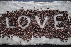 Сердце влюбленности кофе стоковые изображения rf