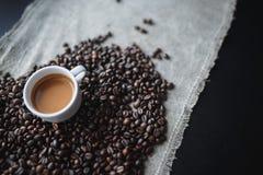 Сердце влюбленности кофе стоковое фото rf