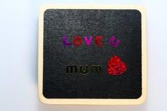 Сердце влюбленности дня матерей Стоковые Изображения RF