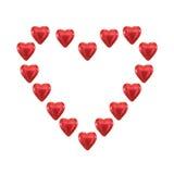 Сердце влюбленности шоколада стоковые изображения rf