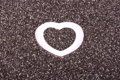 Сердце в chia Стоковая Фотография RF