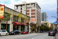 Сердце городского Ванкувера, ДО РОЖДЕСТВА ХРИСТОВА Стоковая Фотография RF