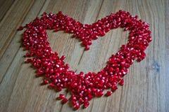 Сердце гранатового дерева Стоковое Изображение RF