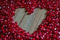 Сердце гранатового дерева Стоковая Фотография