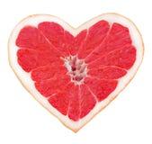 Сердце грейпфрута Стоковое фото RF