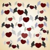 Сердце летания с крылами Стоковое Изображение RF