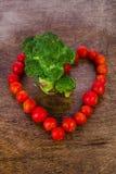 сердце еды здоровое Стоковое Фото