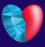 Сердце замерли полигоном, который Стоковая Фотография RF