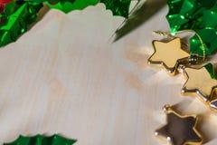 Сердце, звезда, орнамент рождества и украшение стоковые фотографии rf