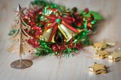 Сердце, звезда, орнамент рождества и украшение стоковое изображение rf