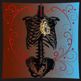 сердце золота Стоковое Изображение RF