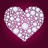 Сердце диаманта вектора Стоковые Изображения