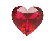сердце диаманта иллюстрации 3D красное Стоковая Фотография RF