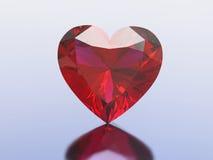 сердце диаманта иллюстрации 3D красное Стоковое фото RF