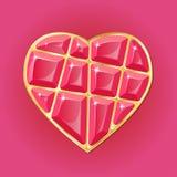Сердце диаманта на розовой предпосылке иллюстрация вектора