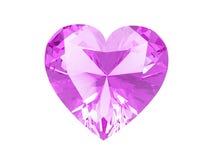 сердце диаманта пинка иллюстрации 3D Стоковая Фотография RF
