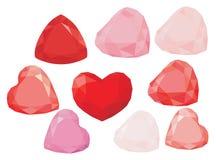 Сердце диаманта Иллюстрация штока