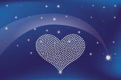 Сердце диамантов Стоковые Изображения