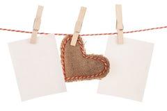 Сердце игрушки дня рамок и валентинок фото Стоковые Изображения RF