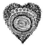 Сердце дизайна сформированное на белой предпосылке Стоковые Изображения RF