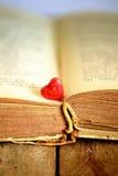 Сердце и книга Стоковые Фото
