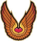 Сердце и крыла Стоковая Фотография