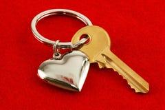 Сердце и ключ Стоковое фото RF
