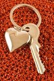Сердце и ключ Стоковая Фотография