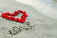 Сердце и цветки Стоковая Фотография