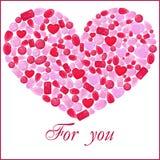Сердце камня самоцвета Rubin На белизне Иллюстрация штока