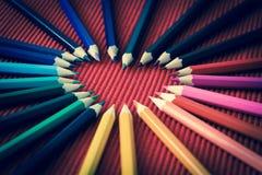 Сердце карандаша стоковые фотографии rf