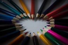 Сердце карандаша Стоковые Изображения