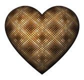 Сердце кожи змейки Стоковое Фото