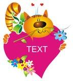 сердце кота шаржа Стоковая Фотография