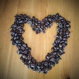 сердце кофейной чашки Стоковая Фотография