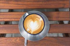 сердце кофейной чашки Стоковые Изображения