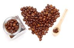 Сердце кофейных зерен стоковые фото