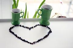 Сердце кофейных зерен Стоковая Фотография RF