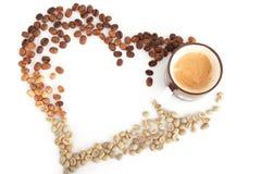 Сердце кофе Стоковое Изображение RF