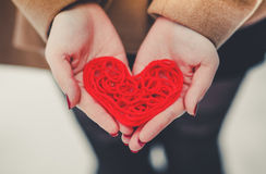 Сердце красного потока Стоковые Фотографии RF