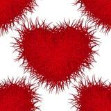 Сердце красного цвета изверга картина безшовная 10 eps Стоковые Изображения
